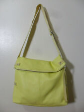 GAP~YELLOW LEATHER SLOUCHY FLAP OVER HOBO~SHOULDER BAG!