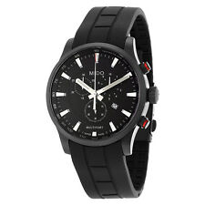 Mido Multifort Chronograph Black Dial Black Rubber Mens Watch M0054173705120