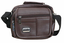 Stylish Side Sling Bag Shoulder Bag Messenger Brown Leather Bag For Men's/ Gents