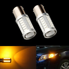 2pcs 1157 High Power Amber Yellow SMD LED Front Turn Signal Light Bulbs Lamps