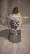 Rara caffettiera design in ceramica con tappo a FIORE - rare COFFEE MAKER