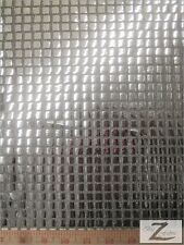 "SQUARE SEQUINS HOLOGRAM FABRIC - Silver - 44""/45"" WIDTH SOLD BY THE YARD PURSE"