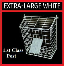 LETTERBOX CAGE Post/Door/Letter/Mail/Box/Guard WHITE Extra Large
