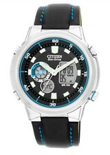 Citizen Men's World Time Multi Dial Eco-Drive Strap Watch JZ1050-02E