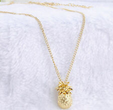 Fashion Cute Tiny Pineapple Fruit Charm Long Chain Necklace Pendant Jewelry Gift
