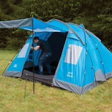 Elm 4 Vivid Blue - 4 Person Family Tent with Two Bedrooms Camping Outdoor Hiking