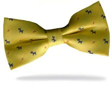 PRICED TO CLEAR! Mens Pre-Tied Adjustable Pet Dog Terrier Polyester Bow Tie