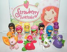 Strawberry Shortcake Figure Set of 12 with Berrykins, Custard, Cupcake More!
