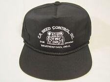 Vintage Hat Mens Cap C R WEED CONTROL INC (Bear) Weatherford, Oklahoma [Y155f]