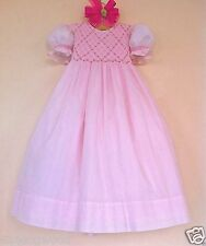 EUC STRASBURG 24M 24 Month 2T Pink Hand Smocked Easter Fathers Day Pageant Dress