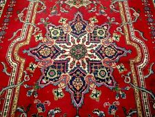 8X11 1940's GORGEOUS AUTHENTIC HAND KNOTTED 70+YRS ANTQ WOOL TABRIZ PERSIAN RUG
