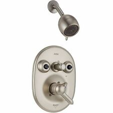 DELTA JETTED SHOWER TRIM T18240-NN PEARL NICKEL (LIKE: T18230/T18240)