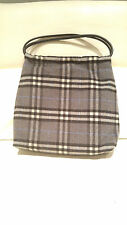 AUTHENTIC BURBERRY BURBERRYS WOOL GRAY TOTE SHOULDER BAG PURSE $1,250