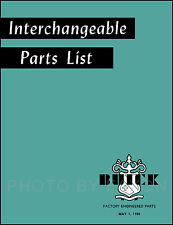 Buick and GM Olds Parts Interchange Book 1946 1947 1948 1949 1950 Manual