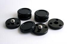 4 isolator-discs per dacs, Lettori CD, amplificatori e altoparlanti. BLACK DELRIN.