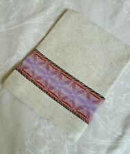 Linen flax tea, hand, kitchen towel (Sirtaki pink)