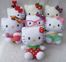 7 Official Sanrio Hello Kitty Ty Beanie Babies Soft Plush Toy Job Lot/Bundle 6""