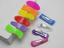 25 Mixed Color Assorted Plastic Coated Baby Bow Snap Hair Clips DIY Craft