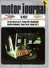 AUSTRIA MOTOR JOURNAL 6/1972 / MAZDA RX 2, JAWA CZ, FIAT 132, EDI FINGER jr.