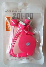 New MULTI-FUNCTIONAL CABLE UNIT for Cell Phones Laptops Chargers QQ-JDS HOT PINK