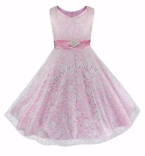 Lace Formal Flower Girl Kid Wedding Bridesmaid Party Pageant Prom Princess Dress