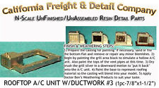 ROOFTOP A/C UNIT /W DUCTWORK #3  N Scale Craftsman CALIFORNIA FREIGHT & nnbPR8