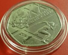 2014 Glasgow Commonwealth Games - Special Edition UK 50p Pence Coin in Prot Caps