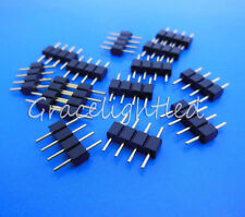 100 Pcs 4 PIN RGB Connector Male to Female For LED SMD RGB 5050 3528 Strip BLACK