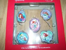 Hallmark Disney The Little Mermaid Princess Ariel Box Set 5 Christmas Ornaments