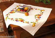 VERVACO  0013301  Nappe  Fruits  Kit  Broderie  Point de Croix  Imprimé