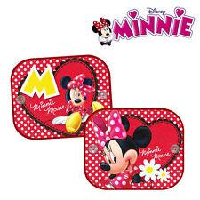 2 X Disney Minnie Mouse coche ventana sombrillas Visera de UV para Niños Niños