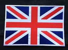 """UK Union Jack British Pride Flag Embroidered Giant Jacket Shirt Back Patch 9""""x6"""""""
