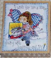 Stamps Happen 80204 Kimberly Ashley I WISH FOR YOU A YEAR Birthday Angel _ New