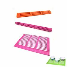 Non-toxic Silicone Roll Drainboard Dish Drying Rack Sink Roll Dish Tray Kitchen