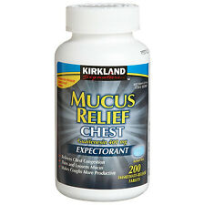 Kirkland Signature™ Mucus Relief 400 mg Releives Chest Congestion (200 Tablets)