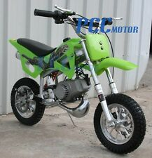 KIDS 49cc 2-Stroke GAS Motor Mini Pocket Dirt Bike Free S/H GREEN M DB49A