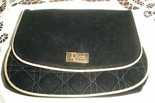 Christian Dior/Dior Parfums Black Velvet and Gold Evening Bag/Make up bag Snap
