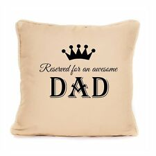 Decorative Awesome Dad Daddy Cotton Cushion Gift Fathers Day Christmas Birthday