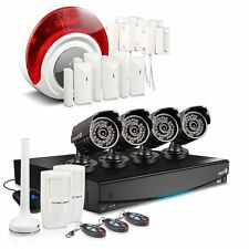 Swann DVR8-3425 8 Channel 1TB 4X PRO-735 CCTV Camera Kit Alarm Sensors NEW MODEL