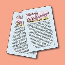 """The Art Of Marriage"" -Poem - 2 Verse Cards - SKU# 632"