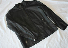 VINCE LIGHTWEIGHT LEATHER MOTO  CLASSIC JACKET BLACK #XL $995