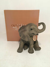 Out of Africa by Sitting Elephant Figurine Ornament *BRAND NEW IN BOX*