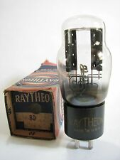 One 1940s Raytheon 80 Full-Wave rectifier tube - TV7D tests @ 59/58, min:40/40