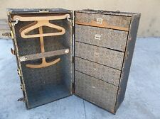 VINTAGE/ANTIQUE STEAMER TRAVEL TRUNK WARDROBE CHEST