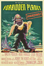 FP03 VINTAGE FORBIDDEN PLANET MOVIE POSTER A4 PRINT