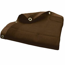 12 X 20  BROWN MESH SCREEN SHADE TARP W/ GROMMETS, (5$ OFF 2 OR MORE)