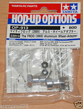 Tamiya 53913 The Frog (2005) Aluminum Wheel-Adapter (Grasshopper/Hornet/FAV) NIP