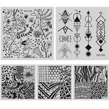 5 Pcs/Set Nail Art Stamp Plate Polish Print Manicure Template Stencil ND106-110