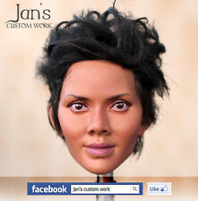 1/6 Hot CUSTOM REPAINT REHAIR Halle Berry toys female figure head kumik phicen