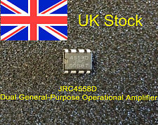 JRC4558D INTEGRATED CIRCUIT DIP8  Dual OpAmp TS-808 Ibanez Tubescreamer UK Stock